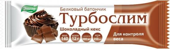 Турбослим Белковый батончик Шоколадный кекс 50 гр.