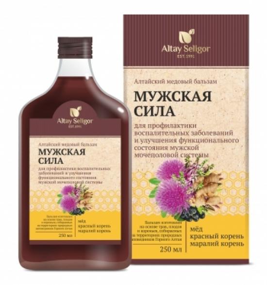 """Алтайский медовый бальзам """"Мужская сила"""" 250 мл"""