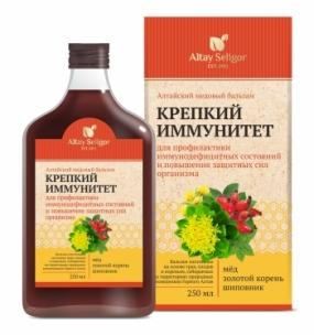 """Алтайский медовый бальзам """"Крепкий иммунитет"""" 250 мл"""