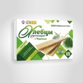 Хлебцы хрустящие с укропом 100 гр. (