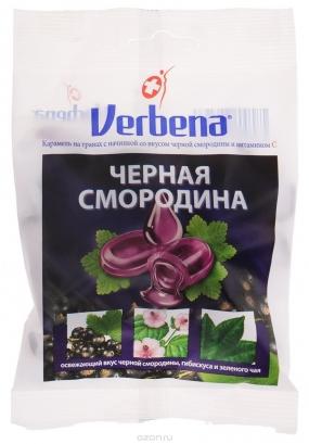 Леденцы VERBENA Черная смородина 60 гр.