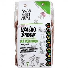 Цельнозерновые макароны из пшеницы перья Умная мама 350гр.