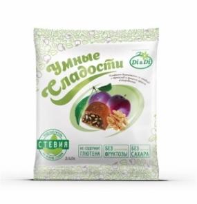 """Конфеты """"Умные сладости"""" с черносливом и грецким орехом, глазированные 210 гр."""