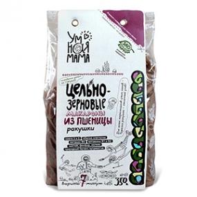 Цельнозерновые макароны из пшеницы Умная мама 350 гр.