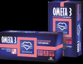 """Омега-3 35% """"Полиен"""" с экстрактом боярышника и витамином Е капс. №30"""
