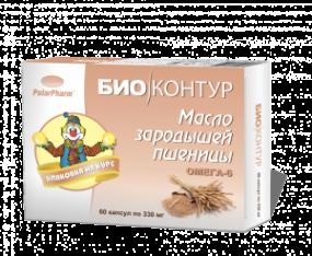 """Масло зародышей пшеницы """"БиоКонтур"""" №60 капс."""