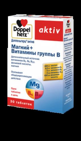 Доппельгерц Актив Магний+Витамины группы В табл. №30
