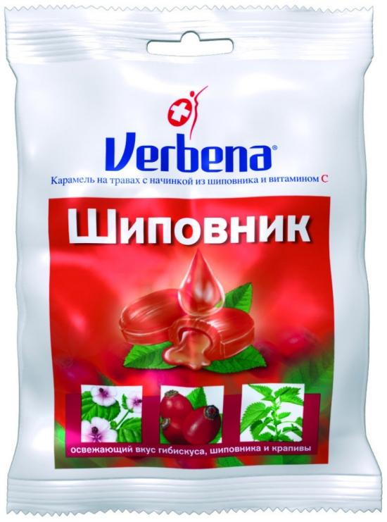 Леденцы VERBENA Шиповник 60 гр.