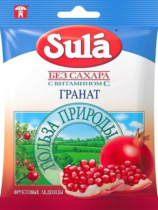 Леденцы SULA Гранат 60 гр.
