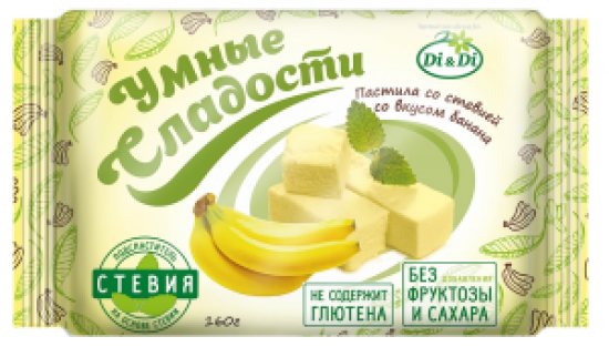 Пастила без сахара «Умные сладости» со стевией «Банан» 160г