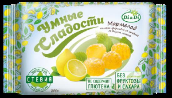 Мармелад без сахара «Умные сладости» желейно-формовой «Лимон» 200г