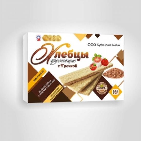 Хлебцы хрустящие с гречкой 100 гр
