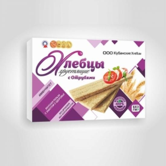 Хлебцы хрустящие с отрубями 100 гр.