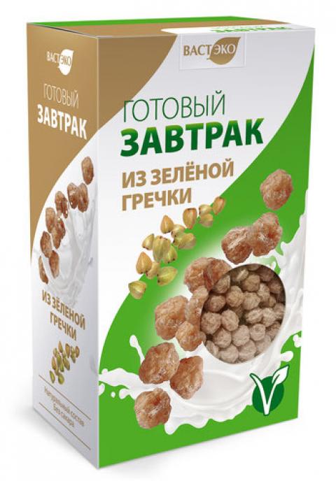 Готовый завтрак шарики из зелёной гречки, 170 г