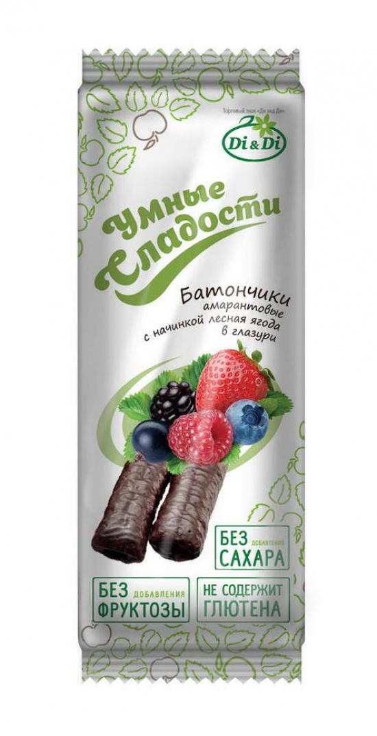 """Батончик амарантовый """"Умные сладости"""" Лесная ягода 20 гр."""