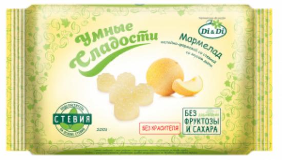Мармелад без сахара «Умные сладости» желейно-формовой «Дыня» 200 г