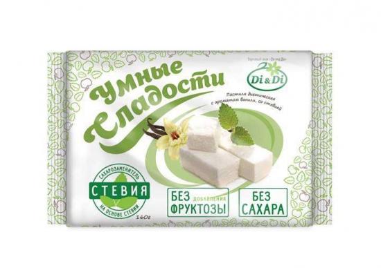 """Пастила с ароматом ванили со стевией """"Умные сладости"""" 160 гр."""