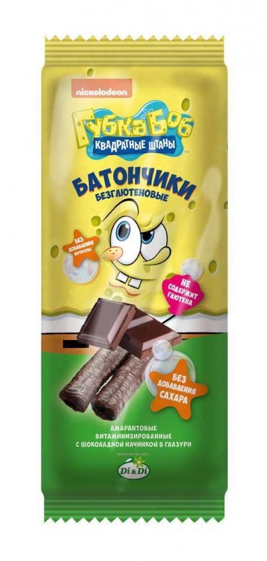 "Батончик амарантовый ""Губка Боб"" Шоколад 20 гр."