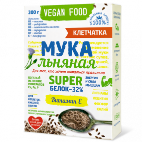 Мука льняная Vegan Food, 300 г
