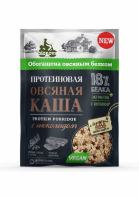 Протеиновая овсяная каша Bionova® с шоколадом (vegan protein) 40 гр