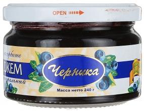 Здоровые сладости Петродиет джем черничный на сорбете, 240 г