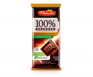 "Шоколад Горький Без Добавления Сахара ""72% Какао"" ""Чаржед"" 100 гр"