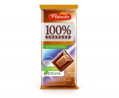"Шоколад Молочный Без Добавления Сахара ""36% Какао"" ""Чаржед"" 100 гр"