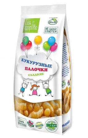 Палочки кукурузные «ЕШЬ ЗДОРОВО» сладкие, 80 гр.