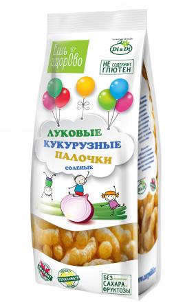 Палочки кукурузные «ЕШЬ ЗДОРОВО» луковые соленые, 80 гр.