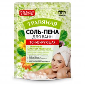 Соль-пена для ванн Тонизирующая Травяная  200 гр.