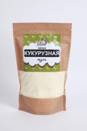 Мука Кукурузная белая ЭкоЖизнь крафт 400 гр