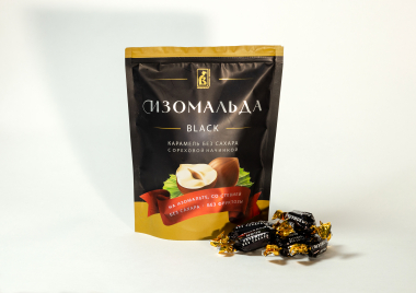 Карамель без сахара, Изомальда Black, 150г