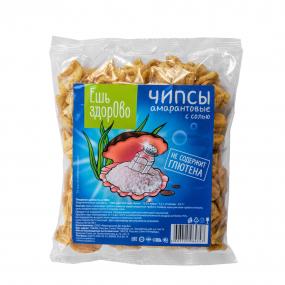 Чипсы без глютена с солью «Ешь здорово» 90 гр.
