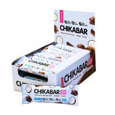 Протеиновый батончик Chikalab Кокос с шоколадной начинкой 60 гр