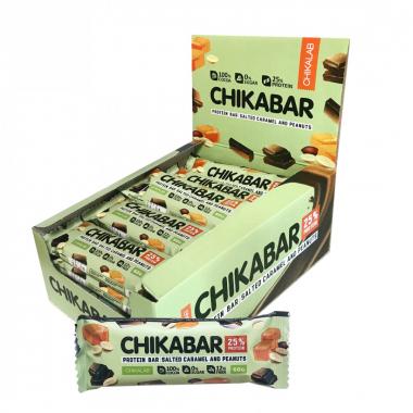 Протеиновый батончик Chikalab Арахис с карамельной начинкой 60 гр