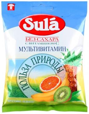 Леденцы SULA Мультивитамин 60 гр.