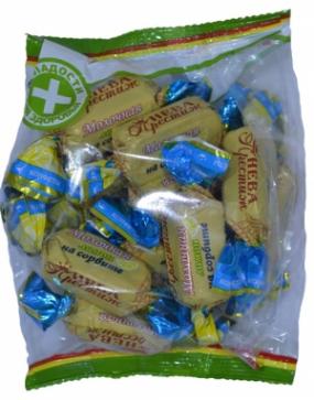 Конфеты Молочная на сорбите Лимон 200 гр.