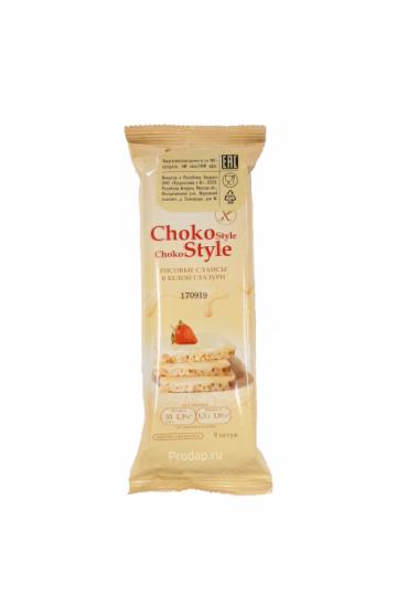 """Рисовые слайсы в белой глазури """"Choko Style"""", 68 г"""
