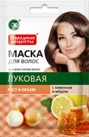 Маска для волос Луковая с лимоном и медом  30 мл