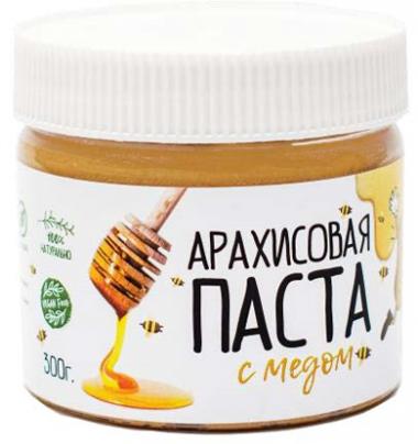 """Арахисовая паста """"С мёдом"""", 300 г"""