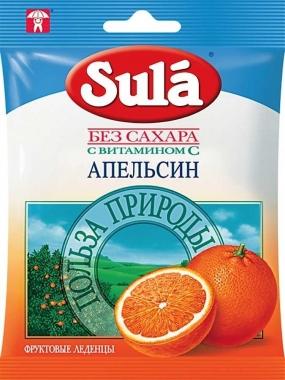 Леденцы SULA Апельсин 60 гр.