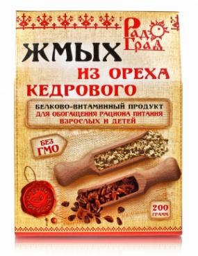 Жмых из ореха кедра 200 гр