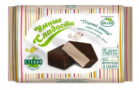 Конфеты «Птичка Умная» суфле нежное, со вкусом крем-брюле, 215 гр.