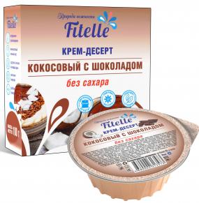 """Крем-десерт """"Кокосовый с шоколадом"""", Fitelle, 100 гр."""