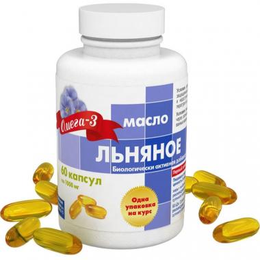 Льняное масло капс. 1360 мг №60