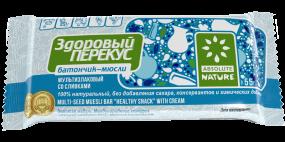 Батончики-мюсли Здоровый перекус со сливками, 55 г