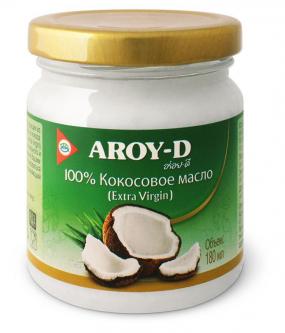 Масло кокосовое Extra Virgin Aroy-D, 180мл