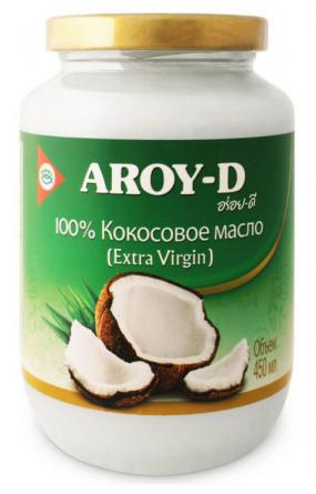 Кокосовое масло 100% (extra virgin) 450 мл AROY-D