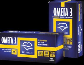"""Омега-3 30%  с кедровым маслом и витамином Е """"Полиен"""" капс. №30"""