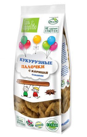 Палочки кукурузные «ЕШЬ ЗДОРОВО» с корицей, 80 гр.
